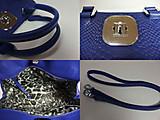 ロンシャン「Longchamp」ハンドバッグ パイソン型押しレザー /ショルダーストラップ付き-ブランド買取/金買取 名古屋の質屋出品